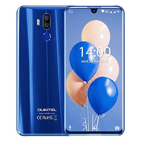OUKITEL K9, 7.12-Zoll FHD Plus Smartphone ohne Vertrag, Dual LED Blitzlichtkamera DSDV 4G LTE SIM-frei, 2 Steckplätze, USB-Typ C Global Band Schnellladung (RAM 4 GB + ROM 64 GB) (Blau)