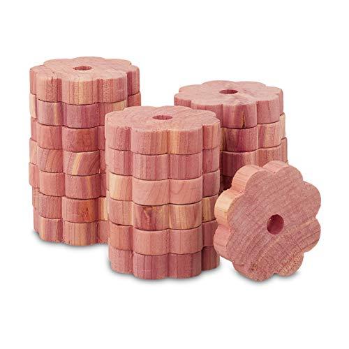Relaxdays Mottenschutz Zedernholz, 20 Stück für Kleiderschrank, Langzeitschutz, Mottenmittel gegen Kleidermotten, Natur