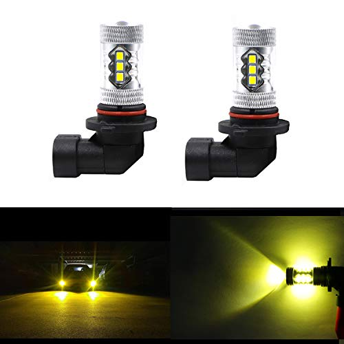 Dantoo Extremely Bright 9006 LED Fog Light Bulbs HB4 LED Bulbs 3000K 16 SMD Fog Light Lamp Replacement For DRL or Fog Lights Gold Yellow 2pcs