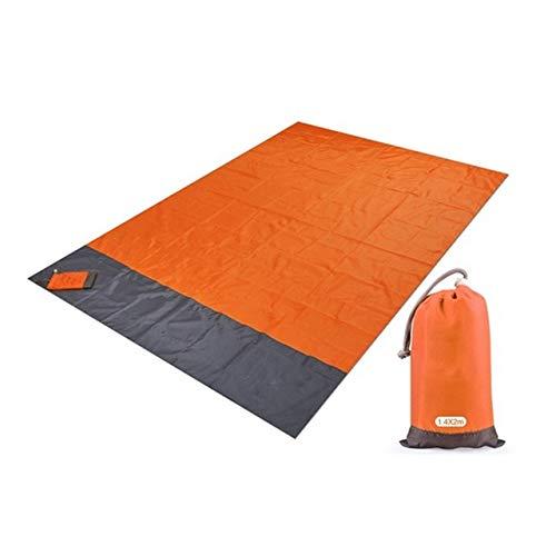 PLOK 2 x 2,1 m impermeable manta de playa plegable camping colchoneta portátil ligera al aire libre Picnic Mat arena playa Mat