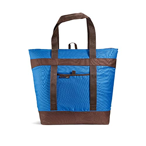 Rachael Ray Jumbo ChillOut Thermal Tote Bag 10-Gallon Capacity Insulated Bag Reusable Blue