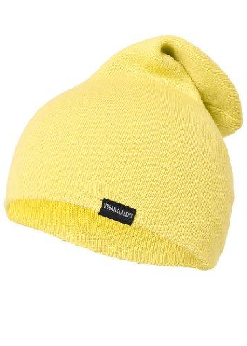 Urban Classics Mütze Neon Long Beanie, Farbe: gelb