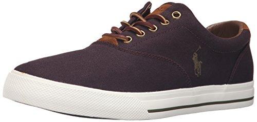 Polo Ralph Lauren Vaughn Herren-Sport-Sneaker aus Segeltuch, Wildleder, Violett (violett), 47 EU