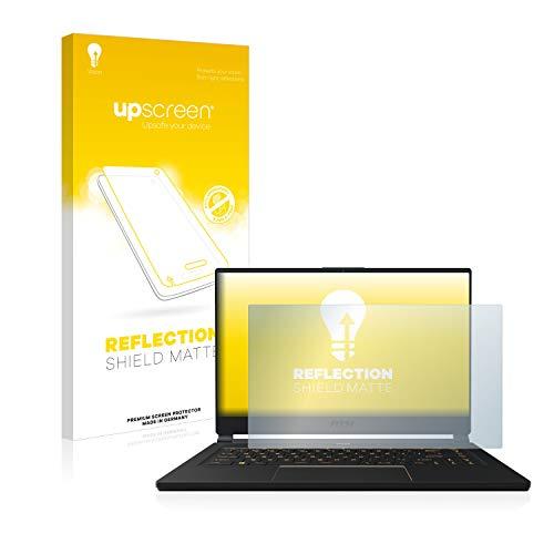 upscreen Entspiegelungs-Schutzfolie kompatibel mit MSI GE75 8SF-256DC – Anti-Reflex Bildschirmschutz-Folie Matt