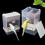 Vinnykud Comedero automático para pájaros Transparente Se Puede Colgar Alta Capacidad Loro Accesorios para jaulas de pájaros Aves alimentando Agua Una Variedad de recipientes de Comida para pájaros