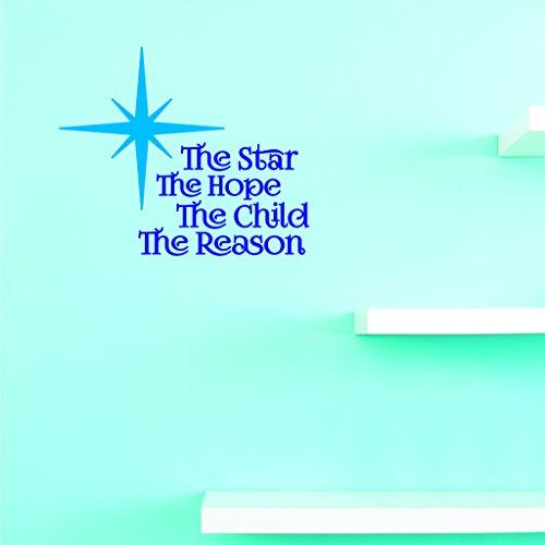 Motif Vinyle Avec 2 recharges de 2348 2 Hot nouveaux Stickers l'étoile The Hope The Child The Reason Décoration murale Taille X 40,6 cm Couleur, 40,6 x 40,6 cm, Multi