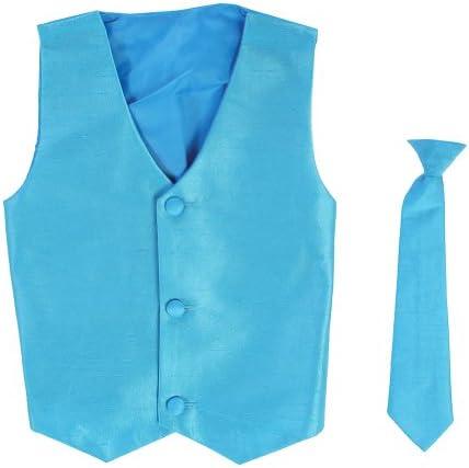 Vest and Clip On Boy Necktie set AQUA 12 14 product image