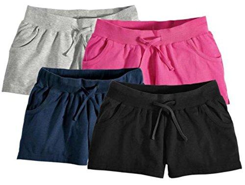 Esmara Damen Shorts Pants Baumwollshorts Sommershorts Legerer Schnittansshorts Shorts (M=40-42, grau)