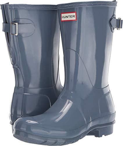 HUNTER Original Back Adjustable Short Gloss Rain Boots Gull Grey 6