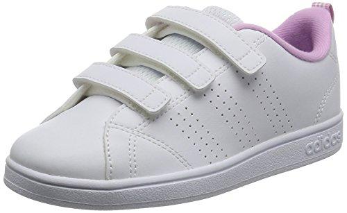 adidas VS Advantage Clean CMF C - Zapatillas deportivaspara niños, Blanco - (FTWBLA/FTWBLA/ORQCLA), 34