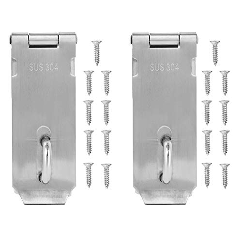 ROSEBEAR Padlock Hasp Stainless Steel Security Door Clasp, Lock Latch Gate Bolt Lock for Residential Gate Cabinets.(2 pcs)