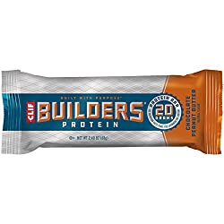 CLIF BUILDERS - Protein Bars - Chocolate Peanut Butter Flavor - 20g Protein (2.4 Ounce, 6 Count) (No
