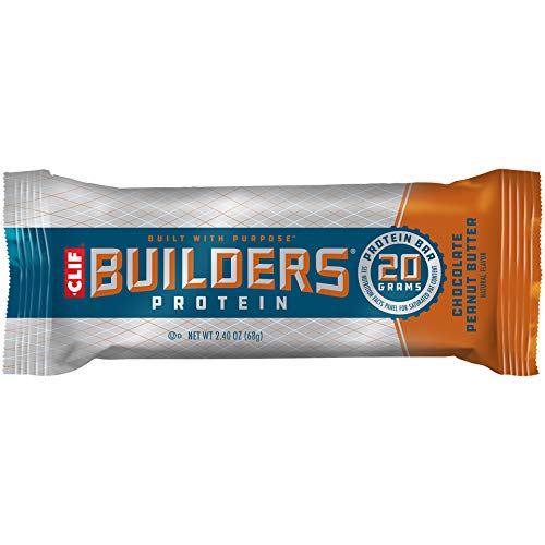 Price comparison product image CLIF BUILDERS - Protein Bars - Chocolate Peanut Butter Flavor - 20g Protein (2.4 Ounce,  12 Count) (Now Gluten Free)