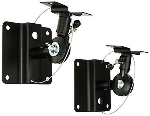 Monoprice 106839 Adjustable Bocina Wall Mount Bracket, Black, Set of 2