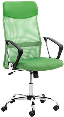CLP Sedia Ufficio Washington In Rete Traspirante E Similpelle I Sedia Scrivania Girevole I Sedia Ergonomica Direzionale, Colore:verde
