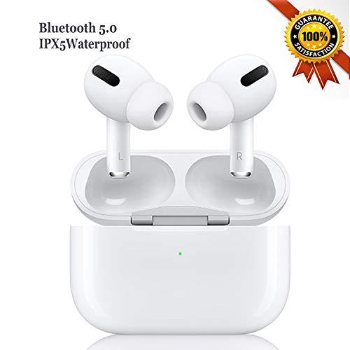 Auricular Inalámbrico Auricular Bluetooth 5.0 Auricular Deportivo IPX5 A Prueba de Agua Micrófono Estéreo HD Dual Incorporado en la Oreja Control Táctil Adecuado para Apple Android Samsung