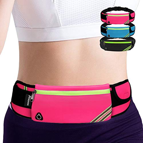 Gifts Presents for Women Fanny Pack Running Belt,Belt Bag,Water Resistant Wasit Pack Bag for Hiking Fitness,Phone Carrier for iPhone Android Galaxy Note samsung,Running Gear,Travel Money Belt(Pink)