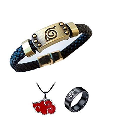 Imcneal 3 pulseras de punto de anime Naruto, accesorios...