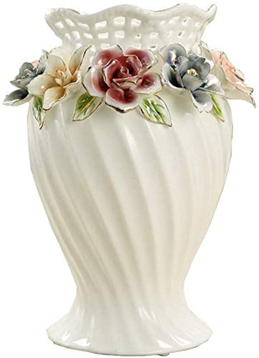 散文流体オピエート花器 キッチンルーム表目玉ベッドルームオフィスホテルセンターピースホーム高品質なガラス材質セラミック背の高い花の花瓶セラミック 花瓶