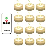Best Flameless Tea Lights - Topstone Pack of 12 Remote Controlled LED Tea Review