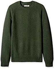 "Made from 100% Lambswool yarn- this breathable, traditional sweater is perfect for layering over a shirt or under a jacket to keep you warm Classic crewneck with raglan sleeves, self-rib at neck opening, cuffs, and waist Model is 6'2"" and wearing a s..."