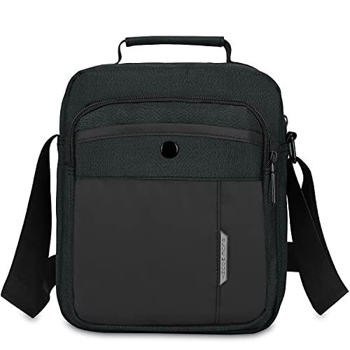 CX&LL Borsello Uomo Tracolla Sport, Borsa a Tracolla Messenger Bag Borsa a Spalla Casual Lavoro Viaggio per Per lavoro e scuola, Nero