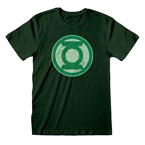 DC Comics Justice League Linterna Verde apenó el Logotipo Camiseta para Hombre Bosque Verde 2XL