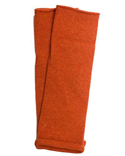Foster-Natur, Arm Stulpen mit Daumenloch, 100% Wolle (Merino) (Orange)