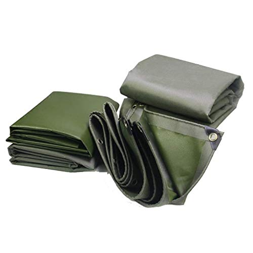 YankimX Prueba Ejército Verde Lona Heavy Duty fría a prueba de polvo for acampar al aire libre de la comida campestre abrigo de la tienda de doble capa impermeable de PVC Junta de lona a prueba de hum