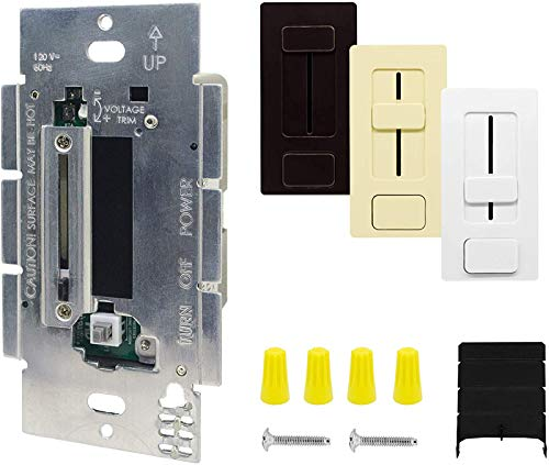HitLights Dimmable Driver and Dimmer Switch Single Integrated Unit, EZDim 120V AC – 12 V DC 40Watt Wall Dimmer Switch Compatible with Most Solid Color 12V DC Tape Lights and Fixtures, UL Listed