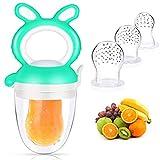 Stecto Alimentador de chupete de alimentos y frutas para bebés, alimentador de...