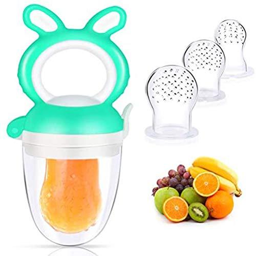 Chupete Fruta Bebe, Alimentador Antiahogo de Fruta Para Bebés y Niños Pequeños...