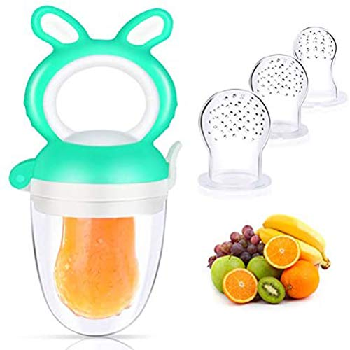RetroFun Baby Fruit Feeder Schnuller, Silikon Nippel Frische Lebensmittel Milch Nibbler Baby Beißspielzeug für Kinder
