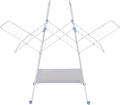 HomeStop IVY Solid Foldable Drying Rack (White_Free Size)