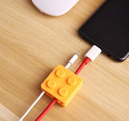 ケーブルホルダー ケーブルクリップ デスク コンピュータデスク USBデータケーブル マウスライン キーボードライン 充電ケーブル ヘッドフォンケーブルの整理に適し 片づけ 優れるシリコン 強力3M接着剤 シリコン製 (黄色 4個入り)ケーブルホルダー 机