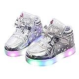 Kinder High-Top Lässige Schuhe Bequeme und atmungsaktive LED leuchtenflache Schuhe für Kinder das ganze Jahr über leuchtende Freizeit Board Schuhe Baby Kleinkind Schuhe