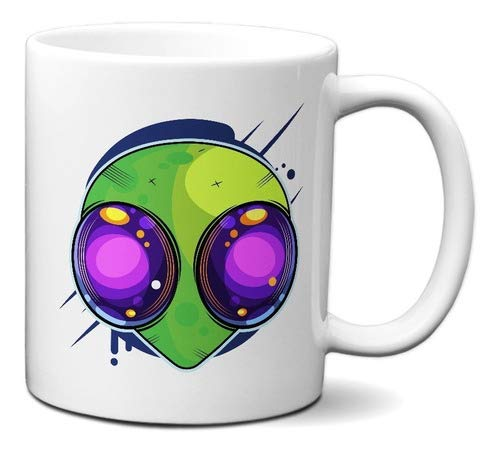 Caneca Alien Engraçado Presente Criativo Ufologia Alienígena