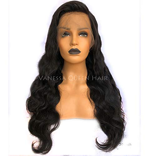 Maycaur Loose Wave Lace Front Wig With Baby Hair Long Wavy Full Lace Human Hair Wigs For Women 180 Density (20 inch, lace front)