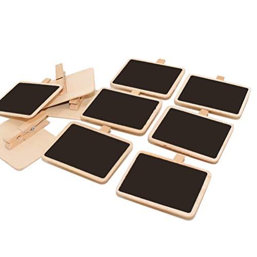 Heally Kreidetafel-Clips, Mini-Tafelschild, Holz, für Hochzeit, Party, Dekoration, Notizen, Lebensmitteletiketten, 10 Stück