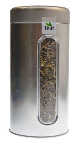 MYRTE-INGWER - Aromatisierter grüner Tee - in Silber Dose rund (Teedose) - Ø 76 mm, Höhe 153 mm (100g)