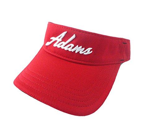 Adams Golf Men's Adjustable Mesh Idea Visor (Red, Adjustable)