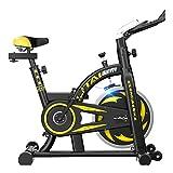 Bicicletas de Spinning Gimnasio Ultra silencioso Indoor Fitness Equipo de Ejercicio con Pantalla LCD (Color : Black, Size : 110 * 51 * 115cm)