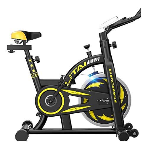 Cyclette Bici da Spinning Palestra Biciclette Ultra Silenzioso Indoor Bikes Attrezzature for Il Fitness Allenamento con Display LCD (Colore : Nero, Taglia : 110 * 51 * 115cm)