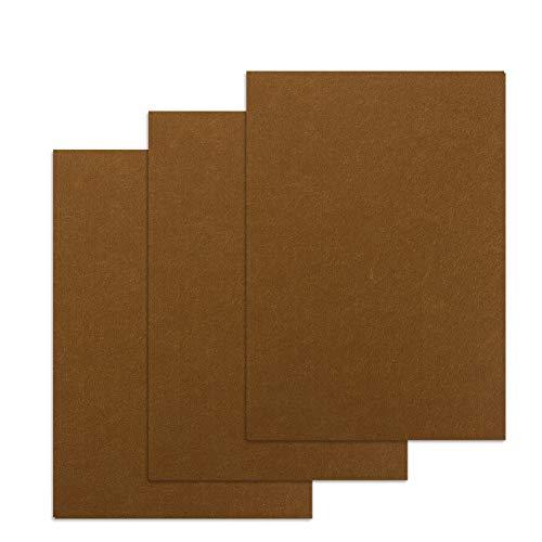 フェルトシート フェルトパッド 大判30×21cm 厚さ6mm セルフ粘着 床のキズ防止 家具保護パッド 3枚入り (ブラウン)