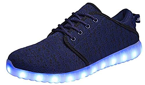MOHEM ShinyNight LED Shoes Light Up USB Charging Flashing Sneakers(1687018Black42)