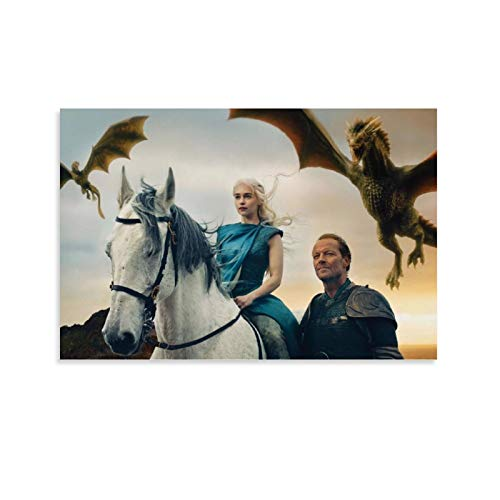 Póster de DRAGON VINES Juego de Tronos Temporada 5 War Is Coming Art Canvas Print Decorar la pared en casa 50 x 75 cm