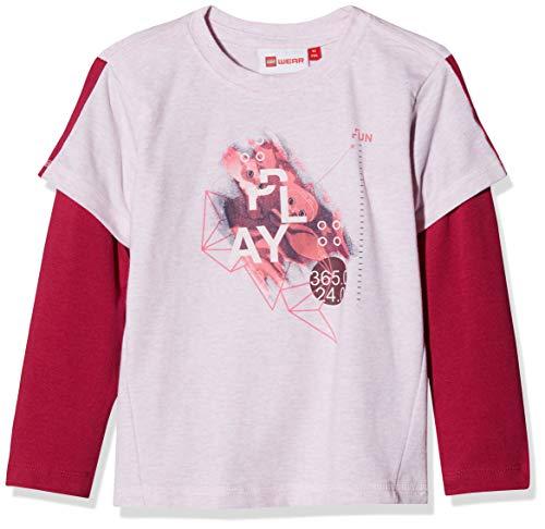 Lego Wear Duplo Girl Thea 703 T-Shirt Manches Longues, Rose (405), 4 Ans Bébé Fille