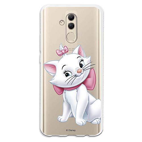 Funda para Huawei Mate 20 Lite Oficial de Los Aristogatos Marie Silueta para Proteger tu móvil. Carcasa para Huawei de Silicona Flexible con Licencia Oficial de Disney.