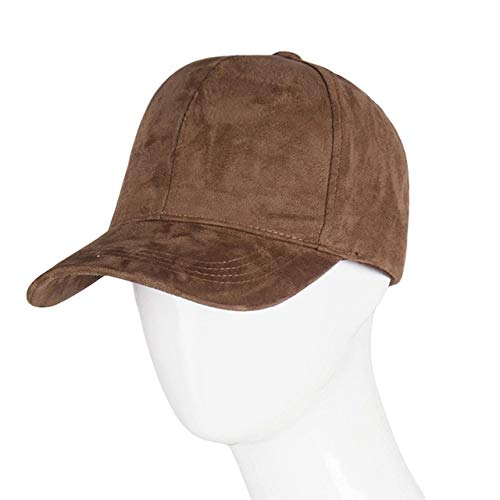 Gorra de béisbol Snapback a la Moda, Gorra Gorra para Mujer, Gorras de Hip Hop, Sombreros de Gamuza para Damas, Gorra de béisbol Negra Gris-Tan