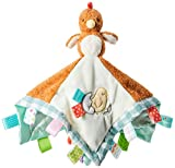 Taggies Barnyard Friends Soothing Sensory Stuffed Animal Security Blanket, Chikki Chicken, 13 x 13-Inches